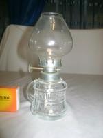 Retro kis méretű petróleum lámpa üvegből