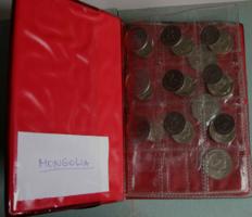 Mongólia -1970-1977-1980 - Teljes sor- 1-2-5-10-15-20 Mongo - 3*7 db- zsebalbumban