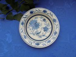 Kék-fehér kerámia falitányér átm. 22,5 cm (3p)