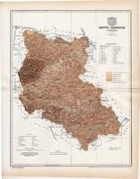 Szepes vármegye térkép 1897 (1), lexikon melléklet, Gönczy Pál, 23 x 29 cm, megye, Posner Károly