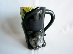 Különleges aranyos kutyával díszített kerámia bögre, csésze 7 dl-es