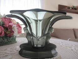 Gyönyörű art-deco nő alakos üveg váza