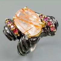 Rutil kvarc gyűrű