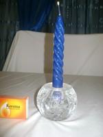 Kristály üveg gömb gyertyatartó