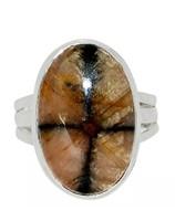 Chiastolite ezüst gyűrű
