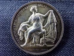 Lyoni selyemszövés gyönyörű ezüst emlékérem 1860 (id10141)