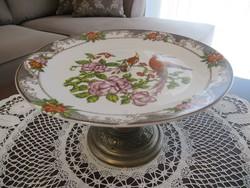 MZ madaras asztalközép réz tartón
