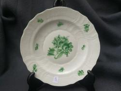 Antik Herendi tányér zöld minta, militária 1943 ból!!! Ritka különleges a háború alatt készült!