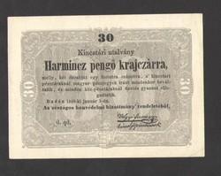 Harmincz pengő krajczárra 1849.