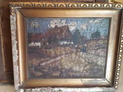 Ruzicskay jelzéssel, 35 x 45 cm-es, olaj, vászon festmény.