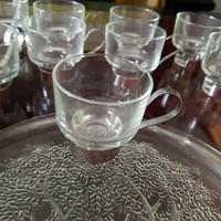 9 személyes üveg kávés készlet