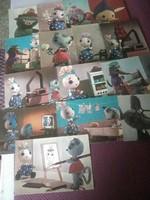 Mazsola sorozatból képeslapok,, 2 darab maradt