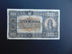 1000 korona 1923 Magyar Pénzjegynyomda RT