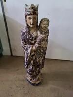 Tiroli szobrász 19.század Mária a gyermek Jézussal faszobor