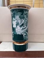 Szász Endre váza 26cm zöld