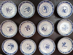 Antik, kínai porcelán szószos tálak. 19. század!