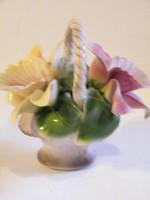 Nápolyi Capodimonte kerámia virágkosár