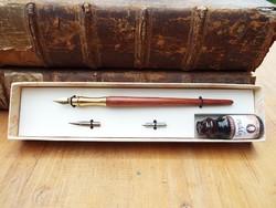 Bortoletti írókészlet, kalligráfiai szett, tintatoll