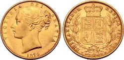 Great Britain, Victoria AV Sovereign. London, 1870. 7.97g,