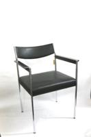 Osztrák  Brüder Fellner székek, 1970 körüli, jelzett, krómozott vázon