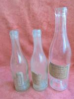 3 db régi italos üveg Shneeberger  Pálné vegyeskereskedés