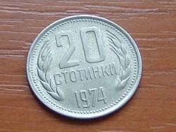 BULGÁRIA 20 CTOTINKI 1974