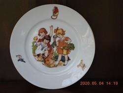 Régi gyermek tányér, gyerek tányér
