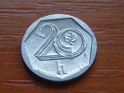 """CSEHORSZÁG 20 HALERU 2001 ALU. koronás """"b"""" (m Jablonec nad Nisou, Czech)"""