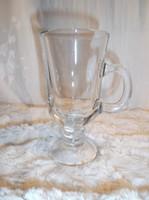 Üveg - Ír kávéskehely - ÚJ - rendkívül vastag 2 dl