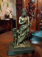 Hadész mitológiai bronz szobor