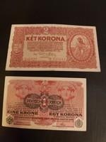 Korona gyűjtemény 9 db (egy korona , két korona)