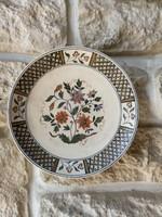 Nagyon ritka kézifestett Schütz cilli majolika fajansz  fali tányér eladó Ritka különleges!