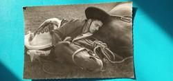 Hortobágy; Csikós a lovával 60 as évek