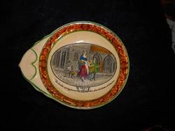 Antik angol porcelánfajansz tálka- pénzgyűjtő tálka
