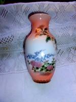 Különlegesen szép krizantém mintával   porcelán váza klasszikus  magasság: