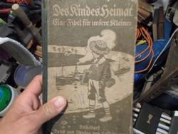 Antik, német nyelvű füzetecske, kőnyv, gyerekeknek. Nagyon ritka.