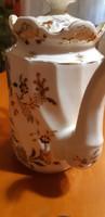 """Zsolnay """"csavart"""" kávékiöntő fedéllel 2 csészével 1 csésze alátéttel"""