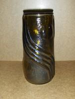 Retro üveg váza 21 cm (1/d)