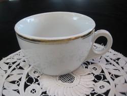 Zsolnay  teás csésze  az 50- es évekből  ,95 x 58 mm , aranycsík ,kissé kopott