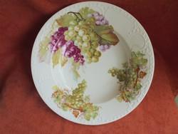 Altrohau porcelán szőlő mintás fali tányér