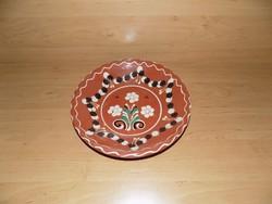 Jelzett mázas kerámia falitányér Szekszárd 25 cm (n)