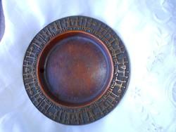 Kézműves bronz falitál 18,5 cm