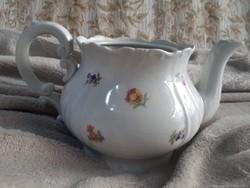 Zsolnay barokk nagy teás kanna sajnos fedő nélkül, amúgy hibátlan állapotú