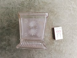 Antik üveg tároló vagy váza vagy cukortartó