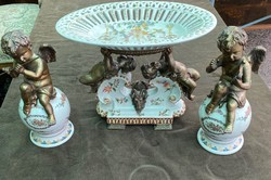 Porcelán háromrészes kínáló