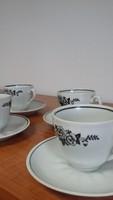 Szovjet. Porcelán retro kávés csészekészlet, ritka nem találtam máshol hirdetve hasonlót