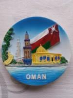 Hűtőmágnes Ománból.