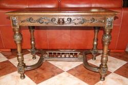 Ónémet antik konzolasztal, asztal, lerakó