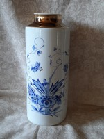 Hibátlan kézzel festett, dúsan aranyozott Weimar váza 25 cm