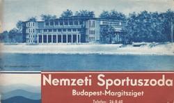 NEMZETI SPORTUSZODA BP.MARGITSZIGET modernista képes ismertetése 1930ca